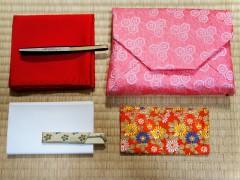 袱紗、古帛紗、懐紙、扇子、楊枝、数寄屋袋